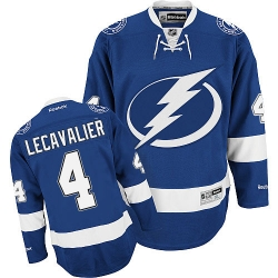 Vincent Lecavalier Reebok Tampa Bay Lightning Authentic Royal Blue Home NHL Jersey