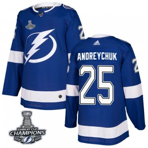 Dave Andreychuk Youth Adidas Tampa Bay Lightning Authentic Blue Home 2020 Stanley Cup Champions Jersey