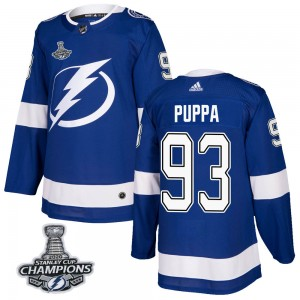 Daren Puppa Youth Adidas Tampa Bay Lightning Authentic Blue Home 2020 Stanley Cup Champions Jersey
