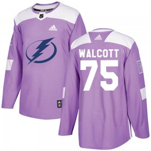Daniel Walcott Youth Adidas Tampa Bay Lightning Authentic Purple Fights Cancer Practice Jersey